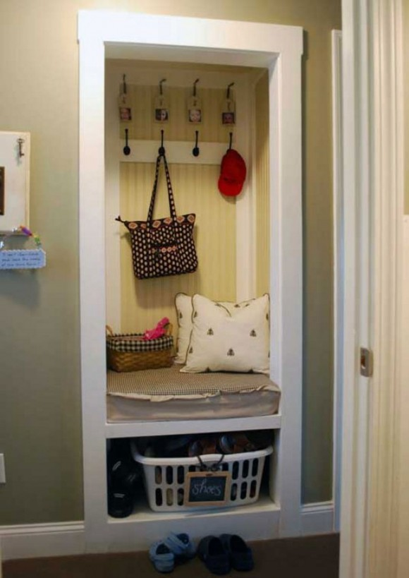 space saving mudroom designs