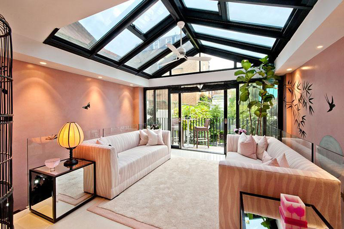 Welcoming open rooftop living room for Village house design images