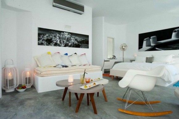welcoming white living room