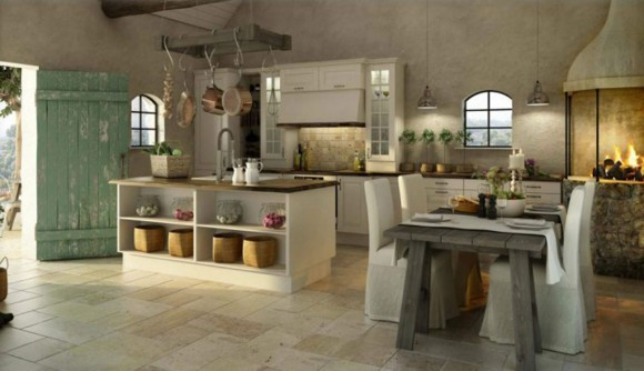 country look concrete kitchen