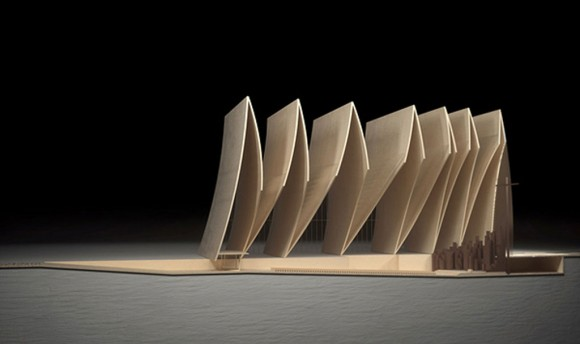 foldable cathedral building planer