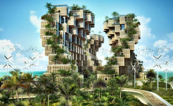 futuristic eco village designs