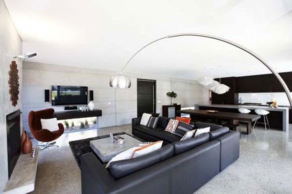 great black living room