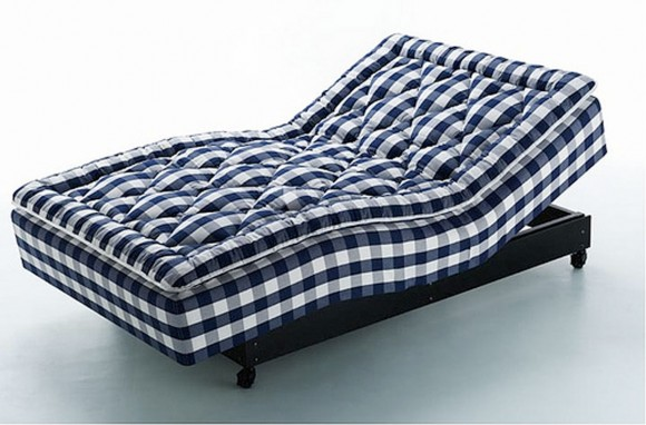 huge blue sofa bed