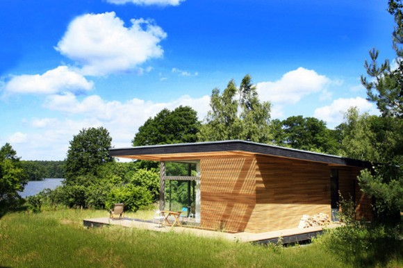 humble wooden summer house