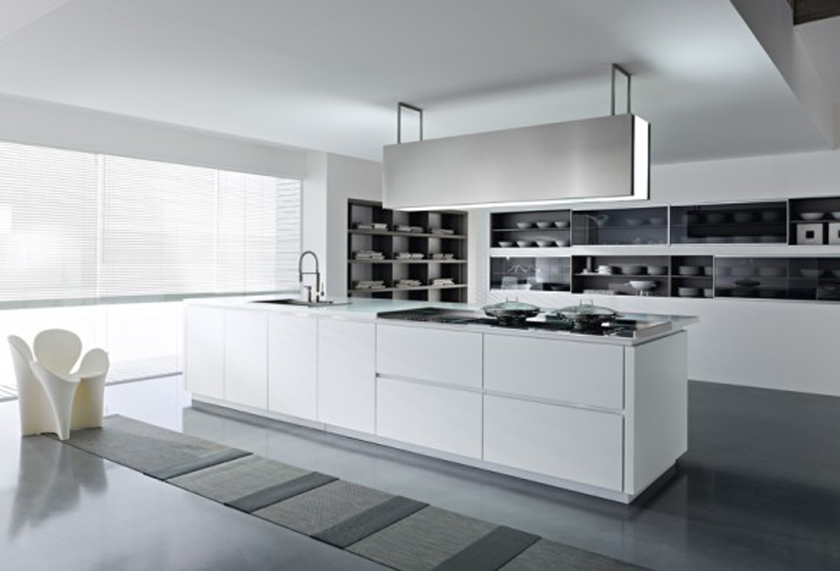 Inspiring white kitchen designs for Kichan dizain