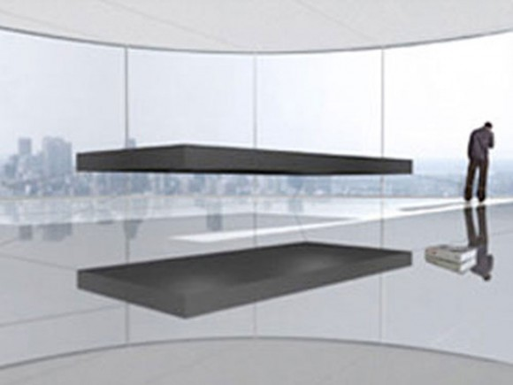 invisible floating bed set