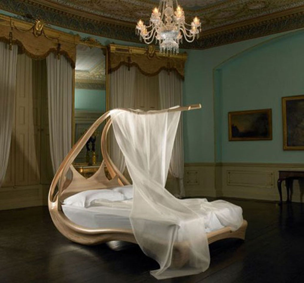 luxury bed canopy system