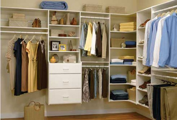 minimalist home closet and wardrobe
