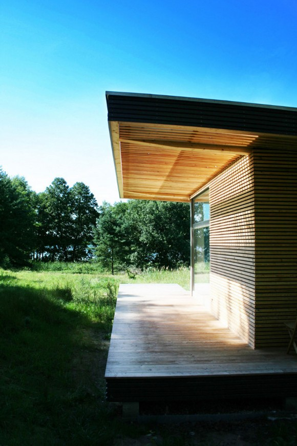 simple wooden architectural building