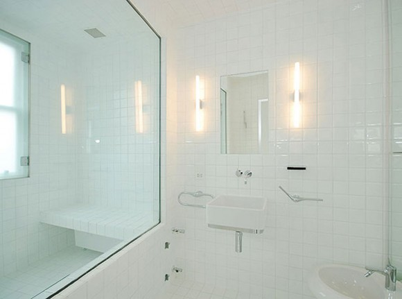 transparent bathroom space landscaping