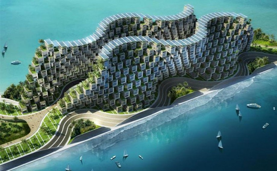 waving style eco village layouts