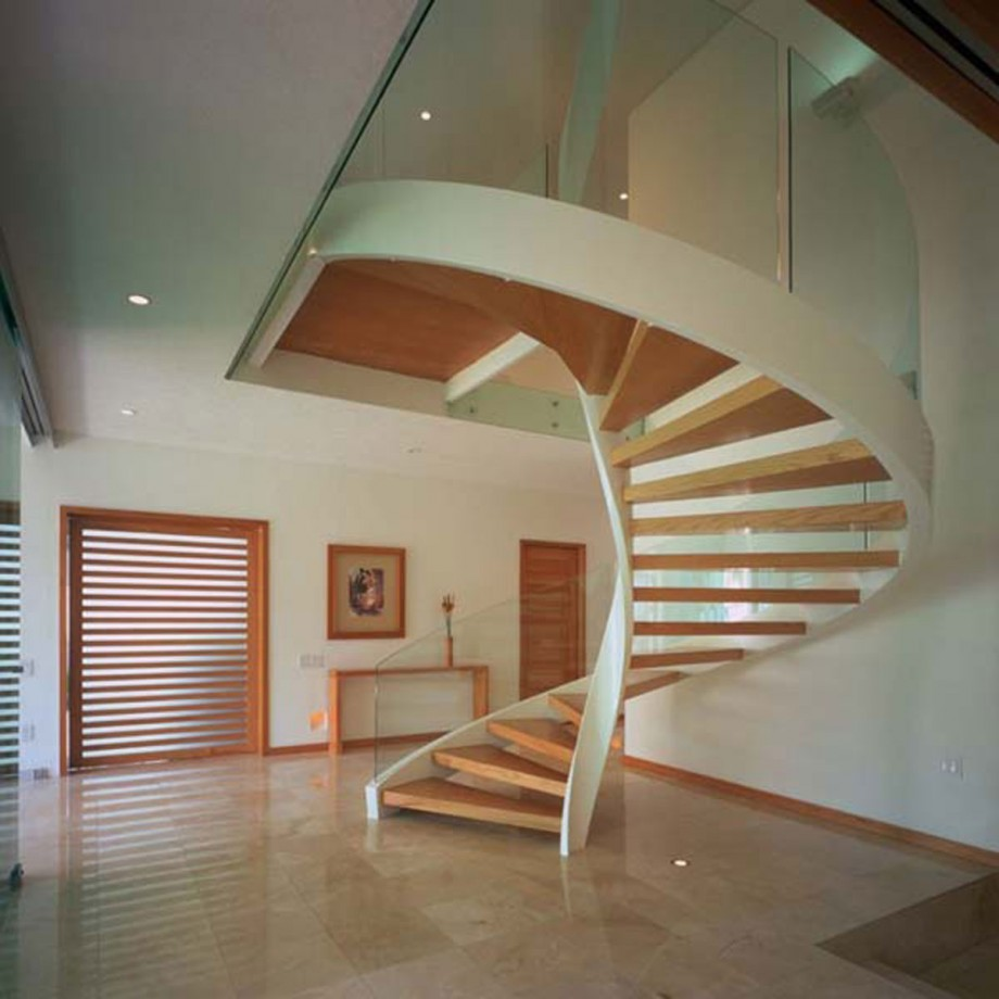 wooden spiral staircase layouts