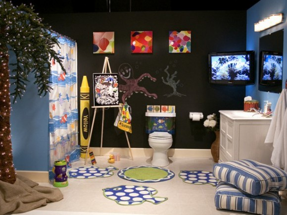 cheerful kids bathroom ideas