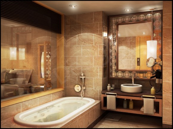 luxury bathroom interior planer