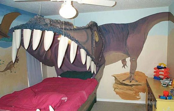 artistic Dyno bedroom for kids
