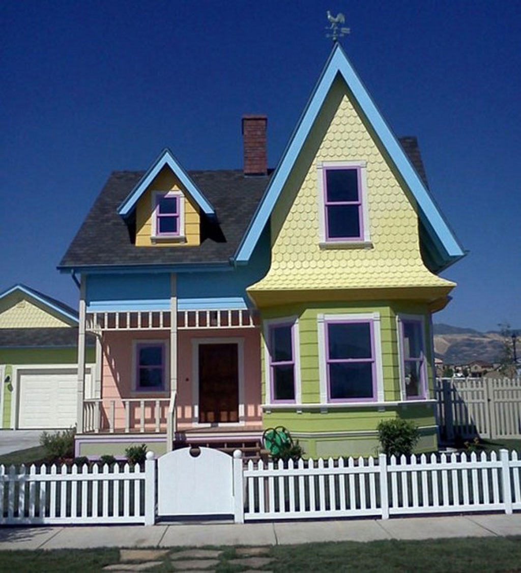 Colorful Cartoon House With Wooden Constructions Designs