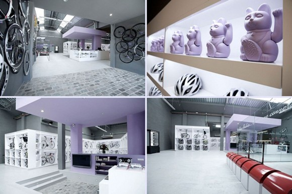 futuristic bicycle shop designs