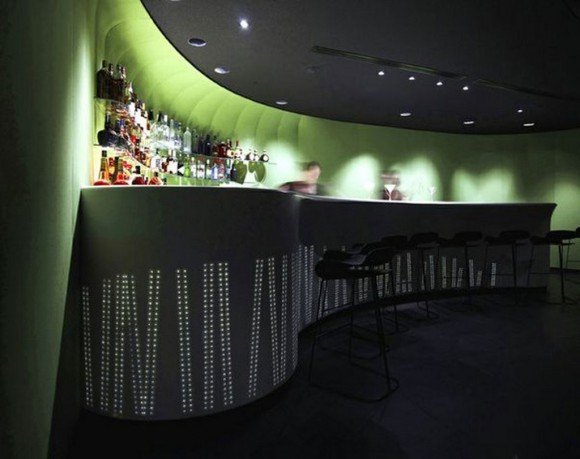 green furnishing bar space