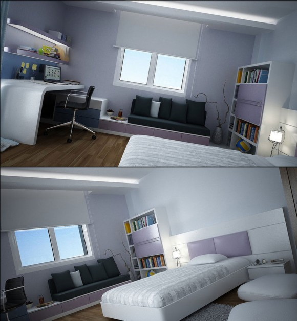 modern teen bedroom modifications
