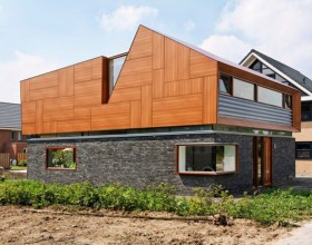 applicable wooden stone house