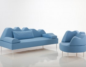 blue color tone home sofa set