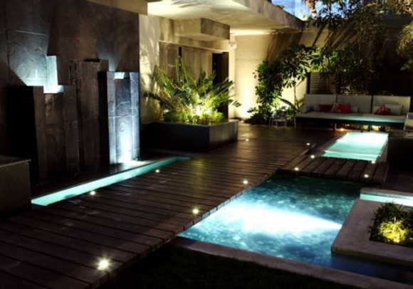cozy outdoor pool applications