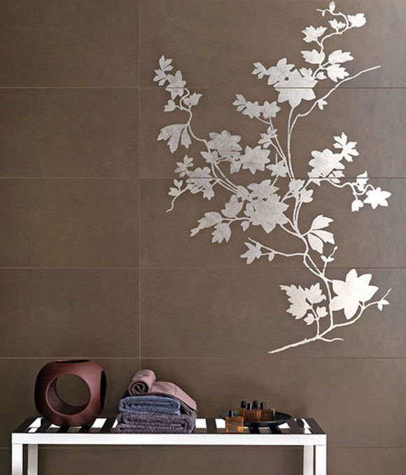 floral tile wallpaper ideas