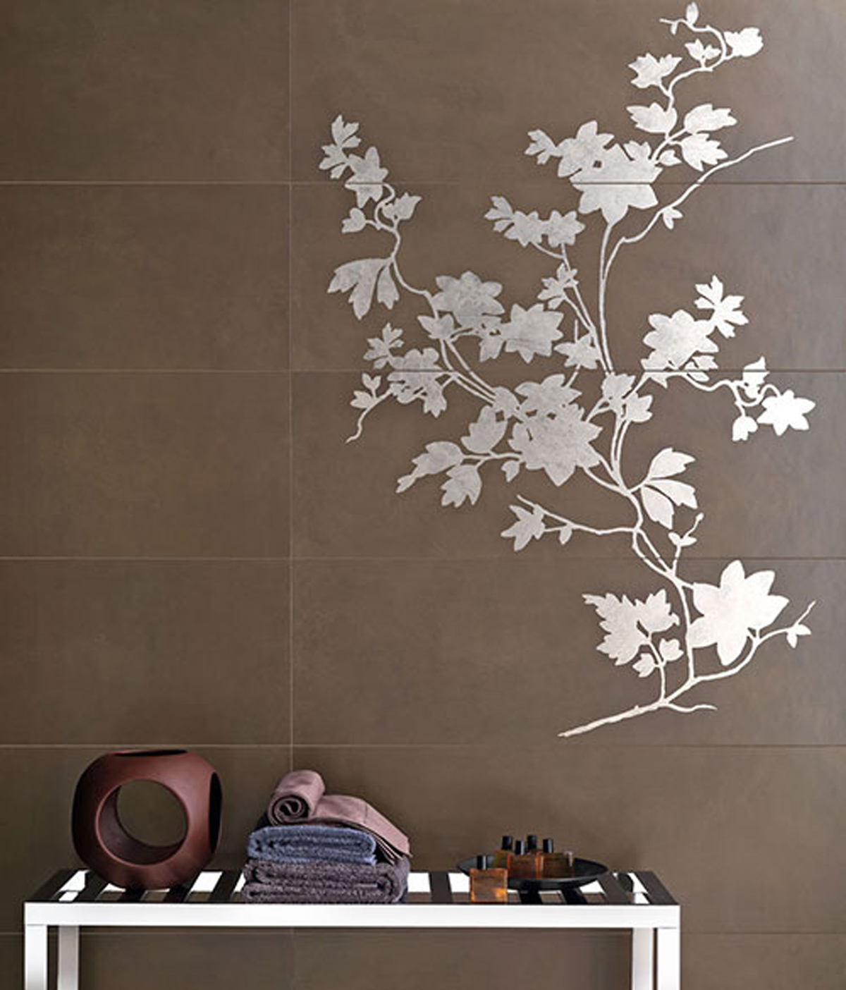 Floral tile wallpaper ideas for Wallpaper design ideas