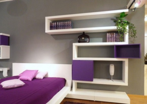 inspirational purple bedroom designs