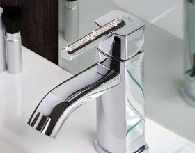 luxury Swarovski bathroom faucet