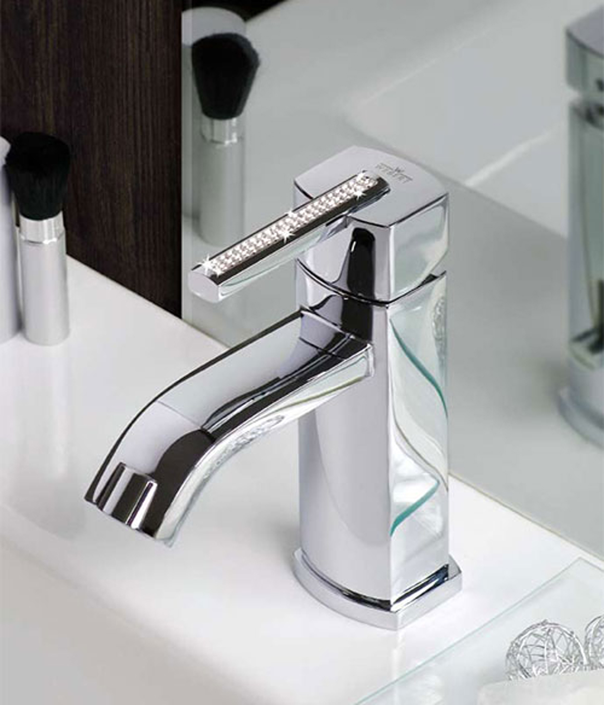 Luxury swarovski bathroom faucet for Expensive faucets