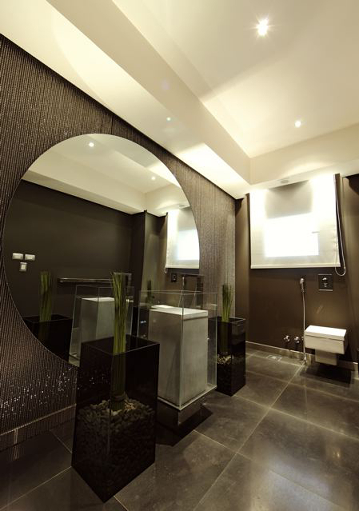 Minimalist Bathroom Interior Minimalist Dark Bathroom Interior
