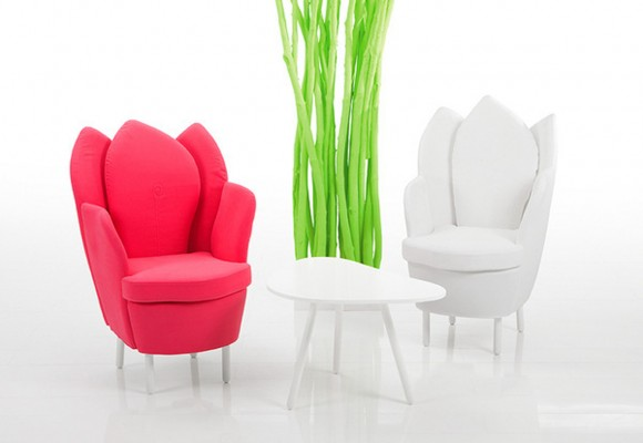 red and white home furniture