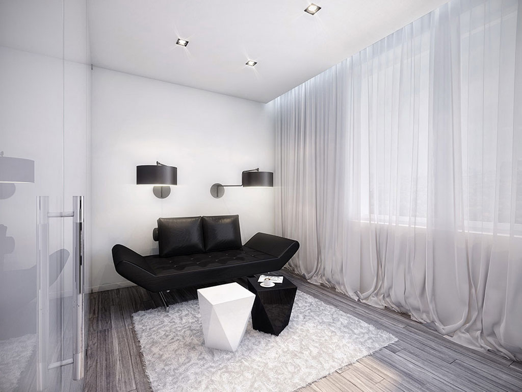 Conceptual black and white living room - Black and white living room ...