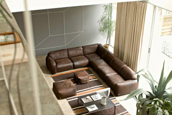 huge leather sectional sofa