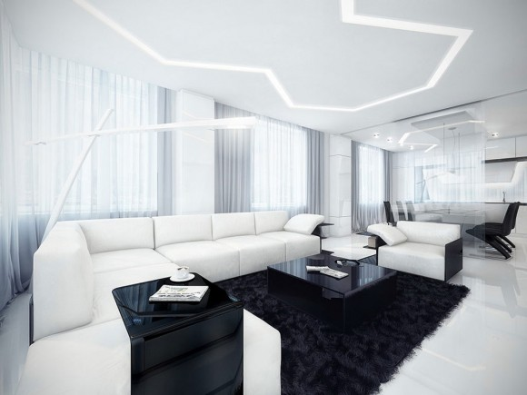 recommended black and white apartment