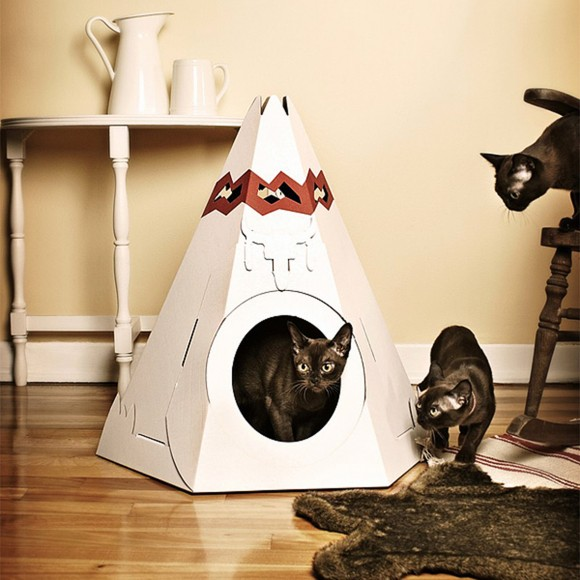 unique cardboard pet home