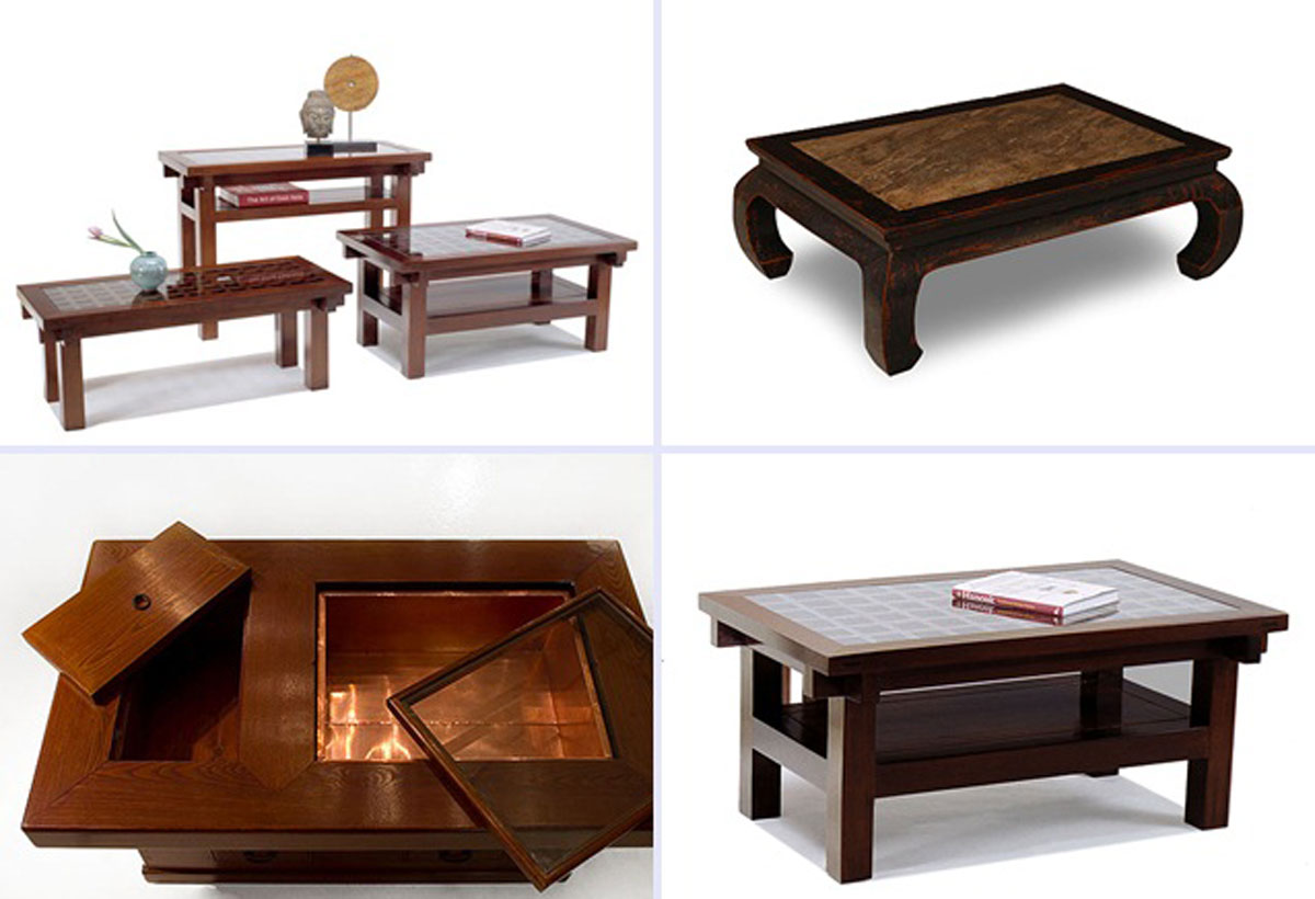 Wooden coffee table designs for Table moderne design