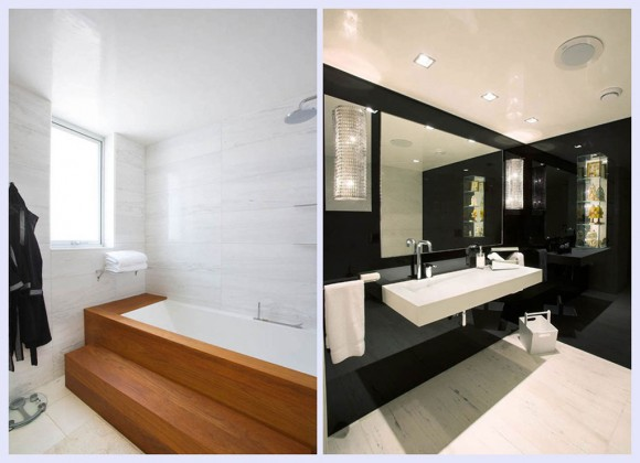 airy bathroom space landscape