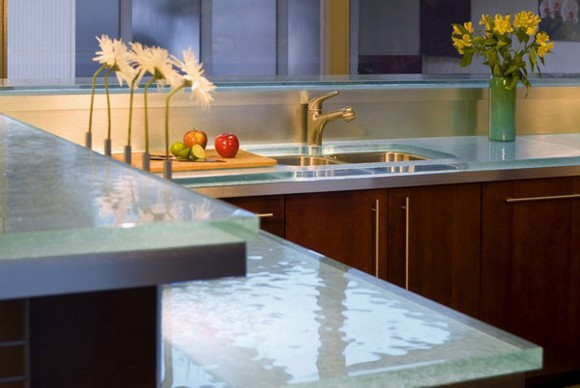 modern glass kitchen table