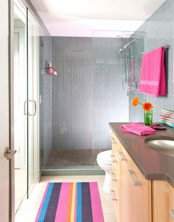 simple home bathroom for kids