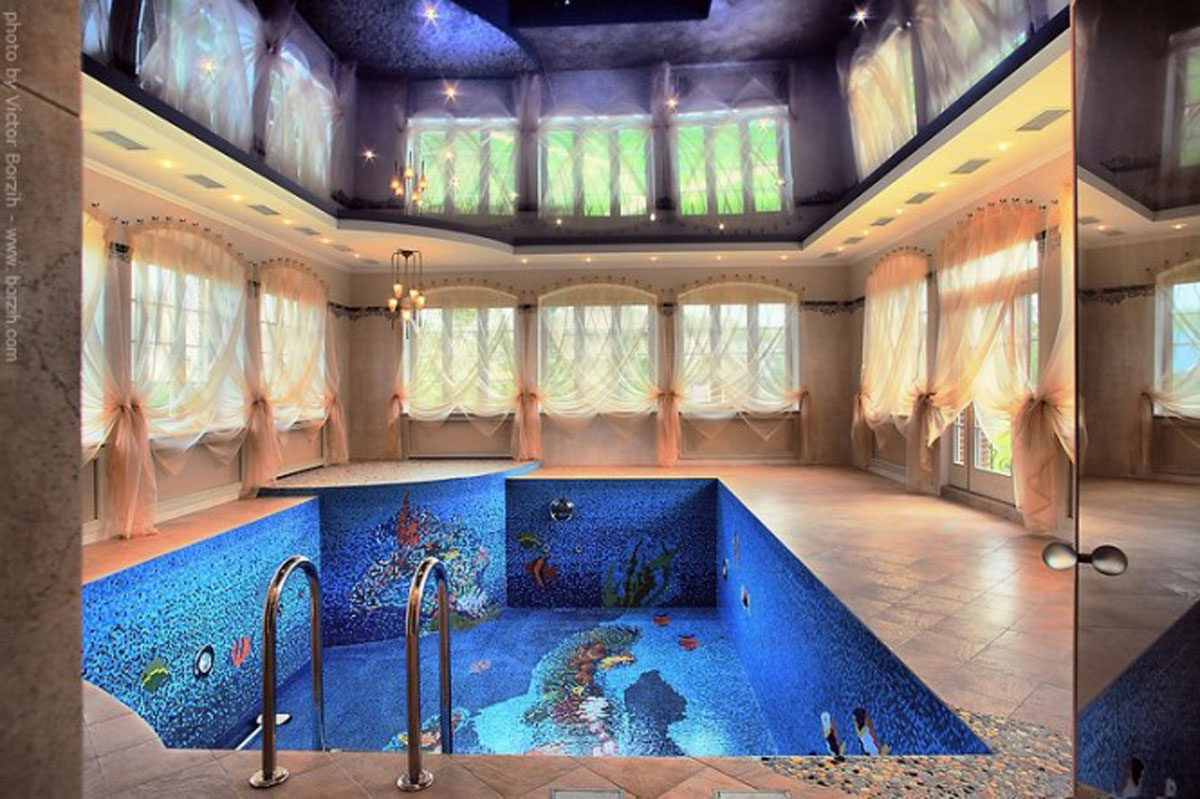 Elegant indoor swimming pool - Inside swimming pool ...