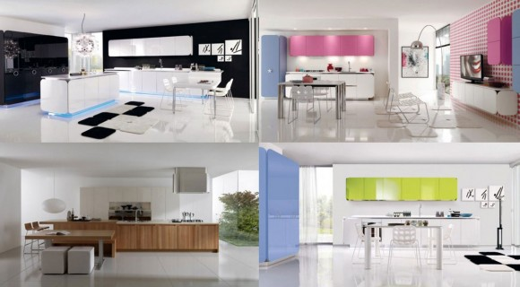 minimalist open living kitchen