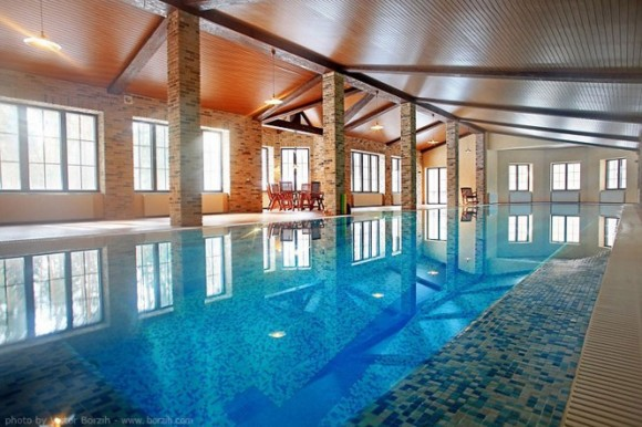 rejuvenating indoor swimming pool area