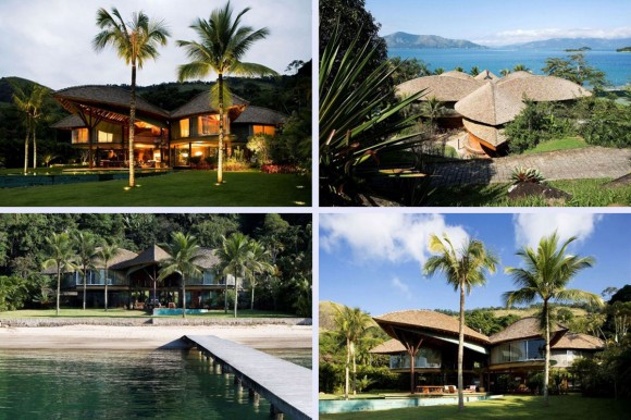 tropical style seaside house