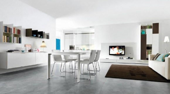 white open living interior