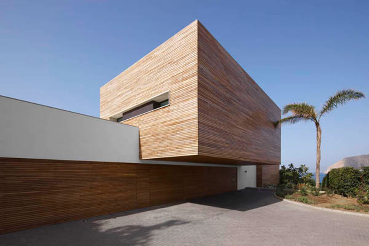 Contemporary dream house from wood for Dream wooden house
