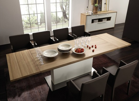 contemporary home dining table