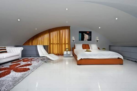 contemporary master bedroom interior